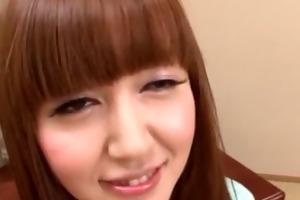 older japanese angel plays knob