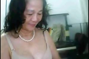 aged chinese woman