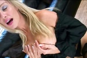 saffy british blonde teasing solo stocking heel