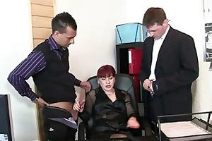 office wench swallows jocks