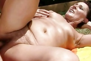 granny getting drilled marvelous hard outdoor