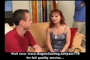 redhead mother i as bride does blowjob for large