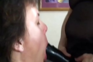 8 lesbo grannies and the large darksome vibrator