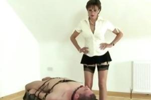 femdom-goddess wanking infirm lads dick previous