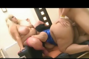 british bbws double team muscle stud with giant