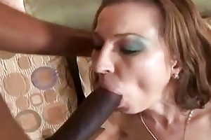 redhead mother i sucks rides a large darksome cock