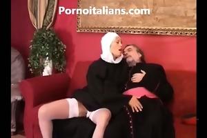 italian nun busty blond curly wet crack screwed