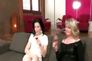 sexy blond and dark brown lesbos part6