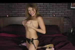 cougar with large tits masturbating