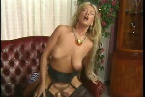 lustful blonde in pantyhose screwed