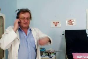 breasty elder woman gyn clinic exam