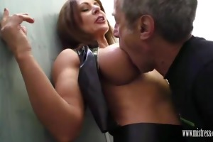 domina carly copulates in crap-house and has serf