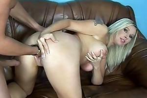 breasty d like to fuck receives double wazoo fuck