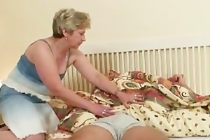 schlong hungry granny copulates her son in law