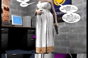 3d comic: the philadelphia project. movie scene 3
