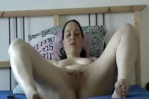 hairless granny playing with toys