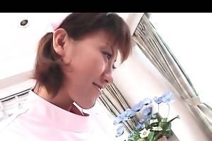 jap slutty nurse seduces patient and copulates