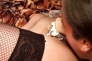 excited stud licks unshaved bush of his lady