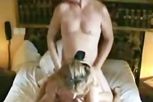 busty wife gets permeated by hubby and their hump