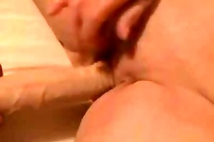 old granny cums fucking a sextoy and engulfing coc