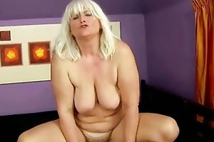 nasty breasty plump granny acquires fucked