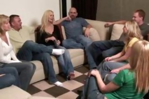 party game leads to a biggest fuckfest swinger
