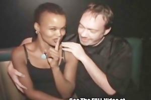 swarthy cum doxy wife tuned out by porn cinema