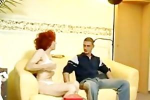 german redhead older housewife