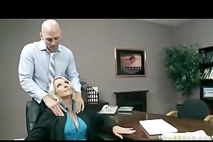 large tit golden-haired d like to fuck boss in
