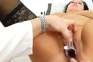 adult toy in wet crack during a wife gyno