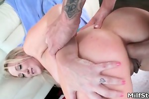 breasty golden-haired d like to fuck goes avid