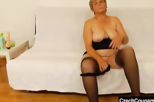 orgastic wife playing with a rubber dick