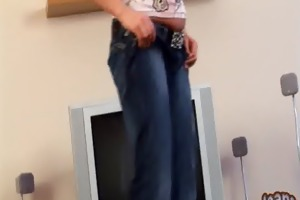 lanza teasing your in taut slender jeans