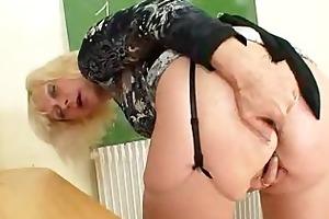 cougar teacher likes to masturbate after school