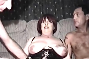 homemade film with older woman and males