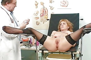 skinny milf gyno clinic exam by perverted doctor
