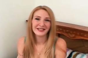 awesome blond hoe sucks unbending weenie