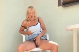 ribald old granny engulfing a biggest dark penis