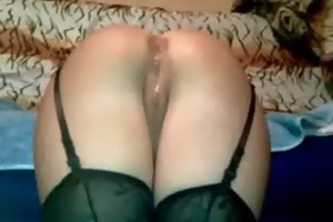 russian wife in darksome nylons booty drilled