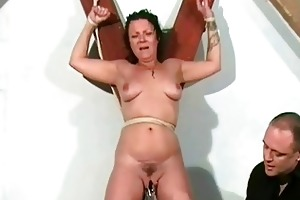 shaz fastened and electro torment of aged english