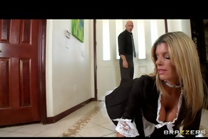 slutty blond maid kristal summers gives an