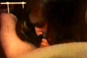 cheating wife gives deepthroat oral pleasure