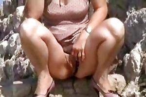 wife flashing