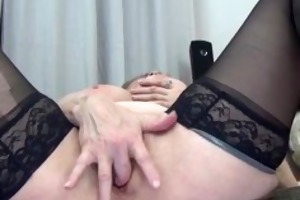 hawt granny in darksome nylons t live without