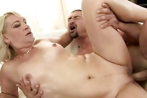 sexy grandma enjoys hard fucking