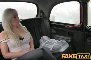 faketaxi lewd golden-haired milf wishes it up the