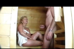 sauna sex with lewd aged sweethearts (german)
