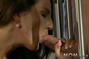 mamma lascivious brunette desires his penis
