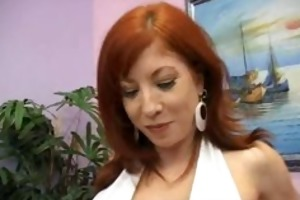 fiery redhead mamma with bigboobs engulfing part3