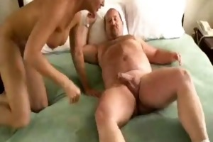 overweight guy fucking blond aged bitch